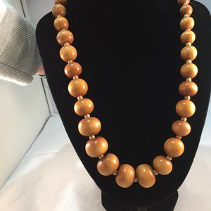 """Very pretty 31"""" wood bead necklace 10 mm wood bead"""